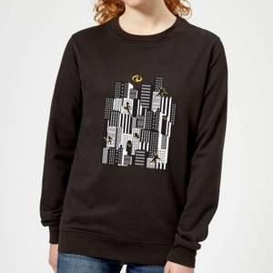The Incredibles 2 Skyline Women's Sweatshirt - Black