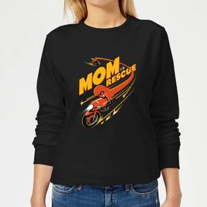 The Incredibles 2 Mom To The Rescue Women's Sweatshirt - Black