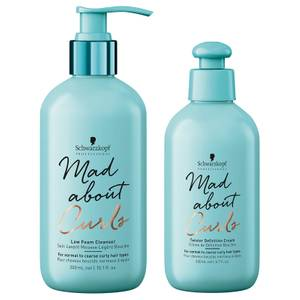 Schwarzkopf Professional Mad About Curls Low Foam Cleanser + Twister Definition Cream