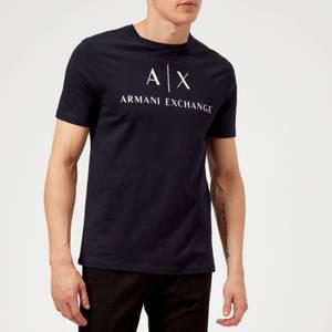 Armani Exchange Men's Script Logo T-Shirt - Navy