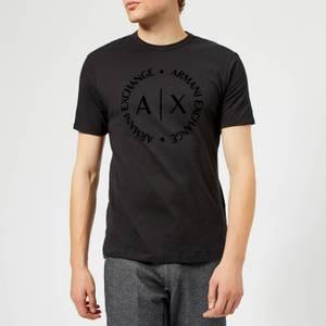 Armani Exchange Men's Tonal Logo T-Shirt - Black
