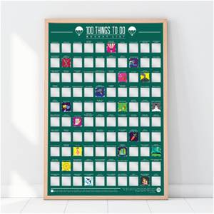 100 Things To Do Bucket List Poster