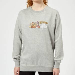 The Flintstones Family Car Distressed Women's Sweatshirt - Grey