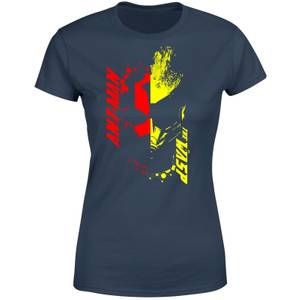 Ant-Man And The Wasp Split Face Women's T-Shirt - Navy
