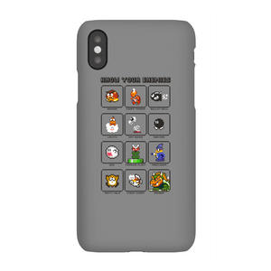 Nintendo Super Mario Know Your Enemies Phone Case