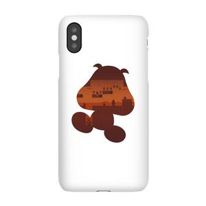 Coque Smartphone Silhouette Goomba - Super Mario Nintendo pour iPhone et Android