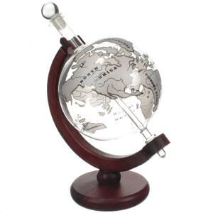 Mixology Vintage Globe Decanter - Silver Plane 1L