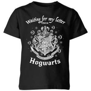 Harry Potter Waiting For My Letter From Hogwarts Kids' T-Shirt - Black