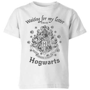 Harry Potter Waiting For My Letter From Hogwarts Kinder T-Shirt - Weiß