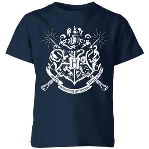 Harry Potter Hogwarts House Crest Kids' T-Shirt - Navy