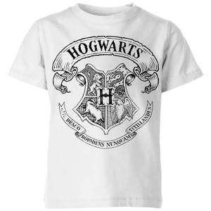 Harry Potter Hogwarts Crest Kids' T-Shirt - White