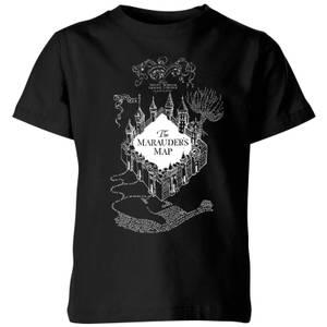 Harry Potter The Marauder's Map Kids' T-Shirt - Black