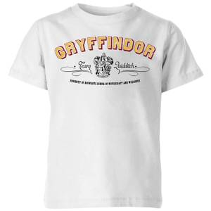 Harry Potter Gryffindor Team Quidditch Kids' T-Shirt - White