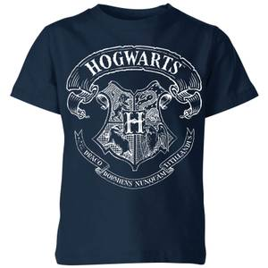 Harry Potter Hogwarts Crest Kids' T-Shirt - Navy