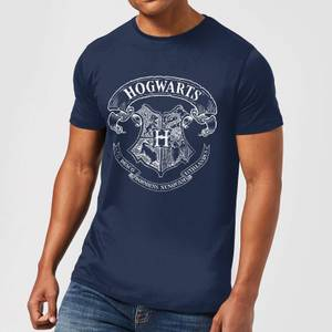 Harry Potter Hogwarts Crest Men's T-Shirt - Navy