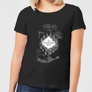 T-Shirt Femme Carte du Maraudeur - Harry Potter - Noir
