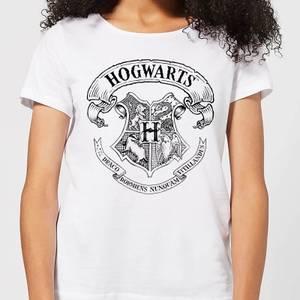 T-Shirt Harry Potter Hogwarts Crest - Bianco - Donna