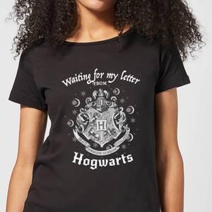 Harry Potter Waiting For My Letter From Hogwarts Women's T-Shirt - Black