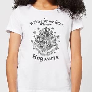 T-Shirt Femme J'attends Ma Lettre de Poudlard - Harry Potter - Blanc