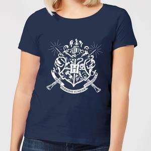 T-Shirt Femme Emblèmes des Maisons de Poudlard - Harry Potter - Bleu Marine