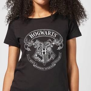 T-Shirt Femme Blason de Poudlard - Harry Potter - Noir