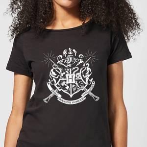 T-Shirt Harry Potter Hogwarts House Crest - Nero - Donna