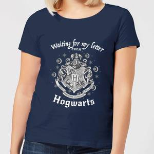 Harry Potter Waiting For My Letter From Hogwarts Women's T-Shirt - Navy