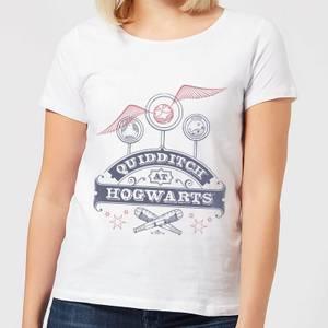 T-Shirt Harry Potter Quidditch At Hogwarts - Bianco - Donna