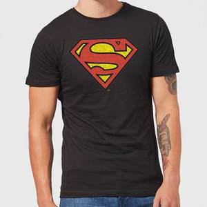 Originals Official Superman Crackle Logo Men's T-Shirt - Black