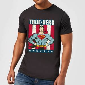T-Shirt Homme Superman True Hero DC Originals - Noir