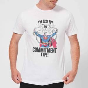 DC Originals Superman Commitment Type Men's T-Shirt - White