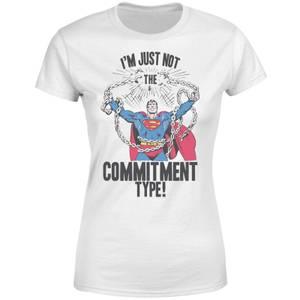 DC Originals Superman Commitment Type Women's T-Shirt - White