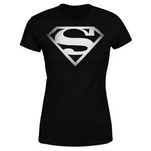 DC Originals Superman Spot Logo Damen T-Shirt - Schwarz