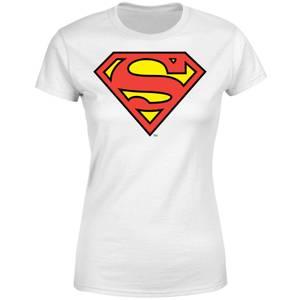 T-Shirt Femme Bouclier Officiel Superman DC Originals - Blanc