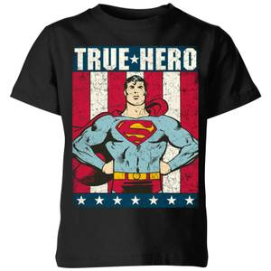 DC Originals Superman True Hero Kids' T-Shirt - Black