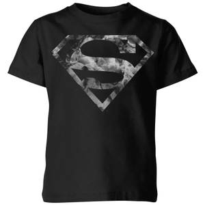 T-Shirt Enfant Logo Superman Marbre DC Originals - Noir