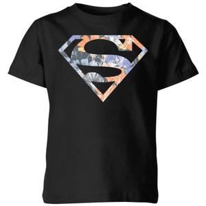 DC Originals Floral Superman Kids' T-Shirt - Black