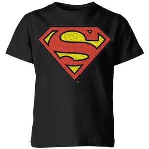 Originals Official Superman Crackle Logo Kids' T-Shirt - Black
