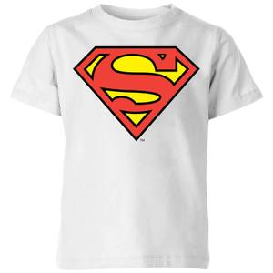DC Originals Official Superman Shield Kids' T-Shirt - White