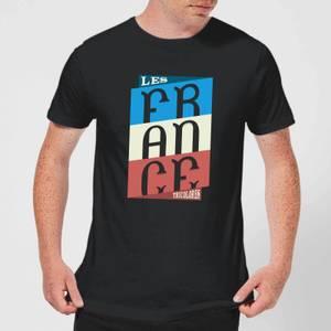 Les Tricolores Men's T-Shirt - Black
