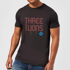 Three Lions Men's T-Shirt - Black