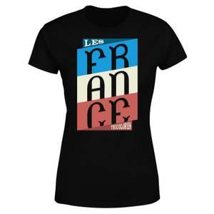 Les Tricolores Women's T-Shirt - Black