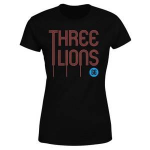 Three Lions Women's T-Shirt - Black