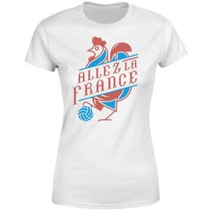 Allez La France Damen T-Shirt - Weiß