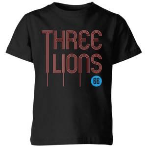 Three Lions Kids' T-Shirt - Black