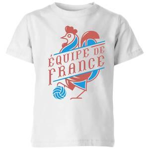 Equipe De France Kids' T-Shirt - White