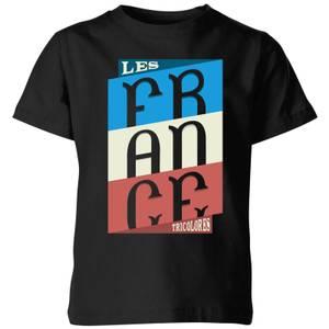 Les Tricolores Kids' T-Shirt - Black