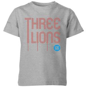 Three Lions Kids' T-Shirt - Grey