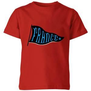 France Pennant Kinder T-Shirt - Rot