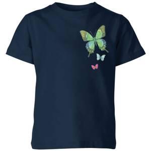 My Little Rascal Pocket Butterflies Kids' T-Shirt - Navy